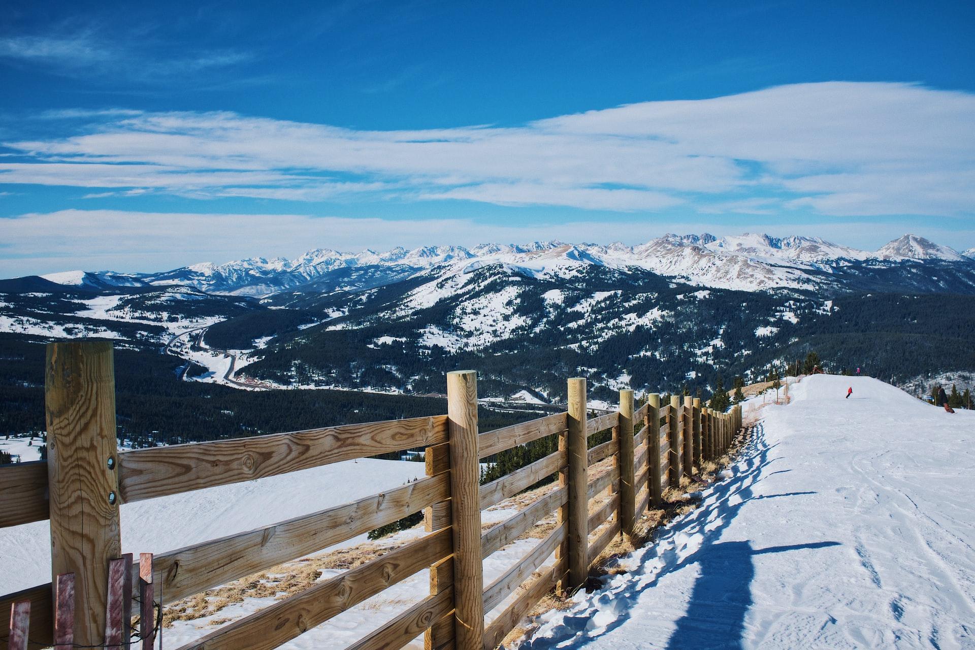 Wooden fence at Breckenridge Ski resort
