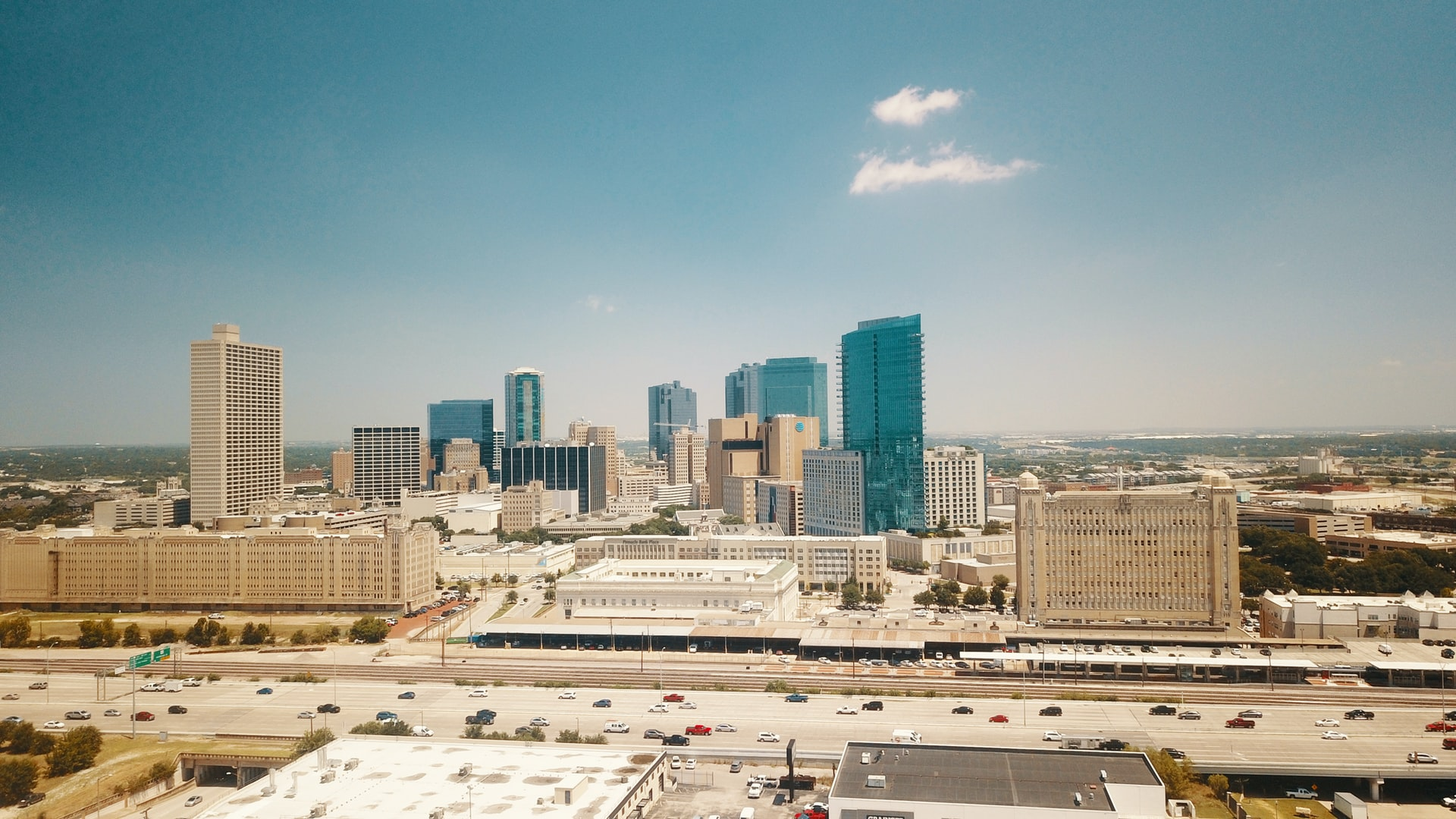 Fort Worth Texas skyline.