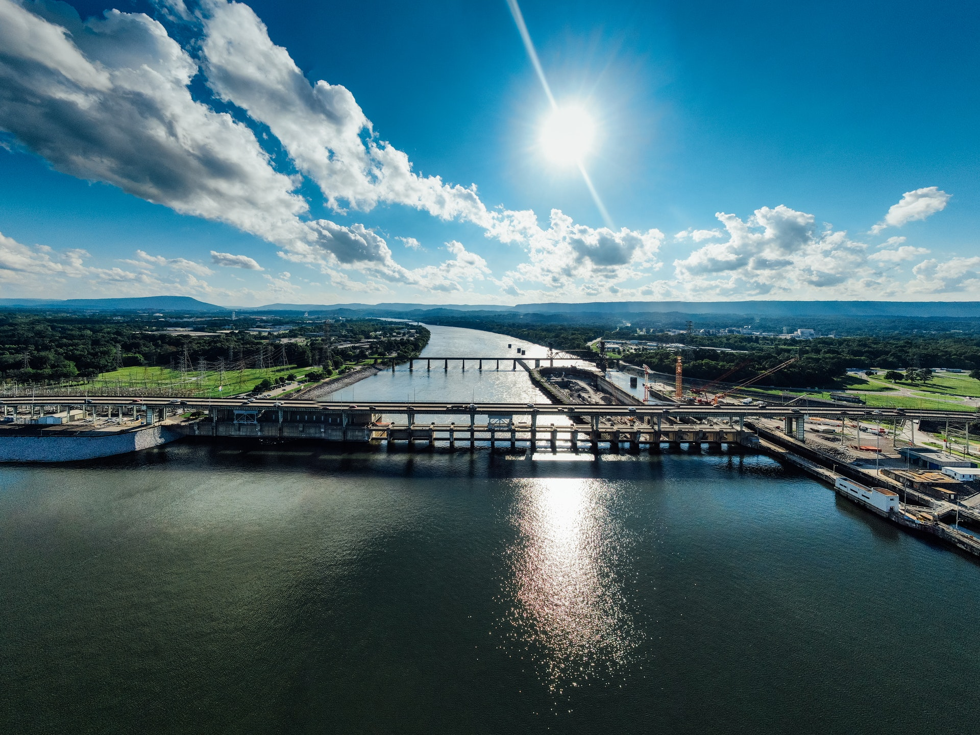 Skyline and landscape of Chattanooga